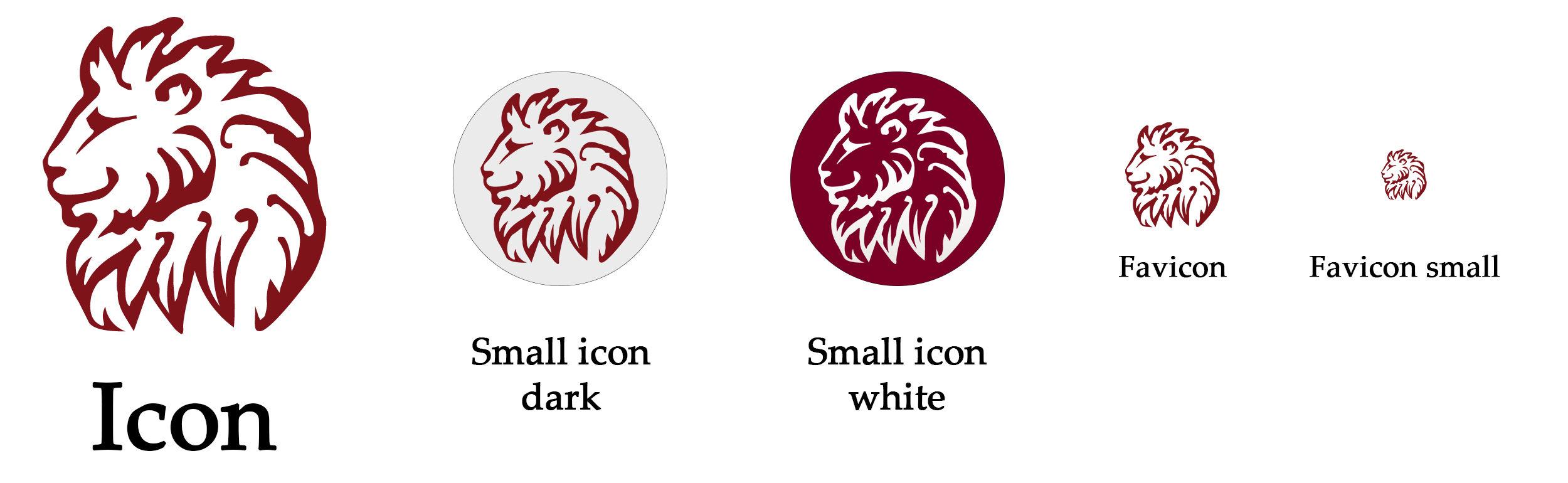Villa Leoncin icons set